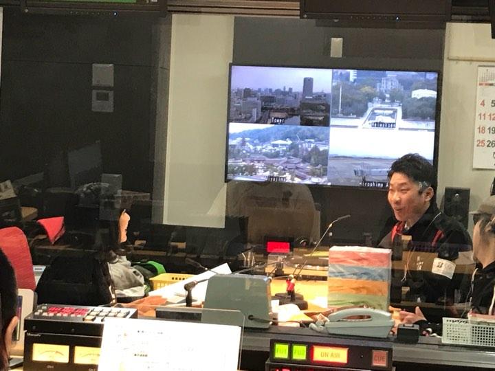 RCCラジオ出演風景
